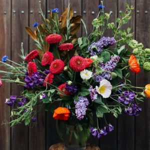 Bouquet of bright blooms grown locally in southern highlands