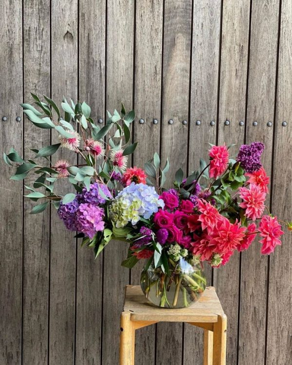 Gift of flowers sourced from local flower farm
