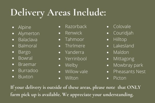 Delivery Areas for Mobile